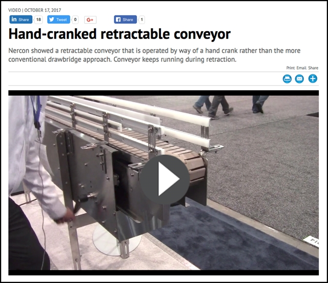 Retractable Conveyor Gate