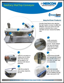Sanitary Conveyor Features