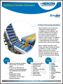 Sanitary Z Incline Conveyor Sell Sheet