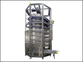 Live Drum Spiral Conveyors offer large capacity.